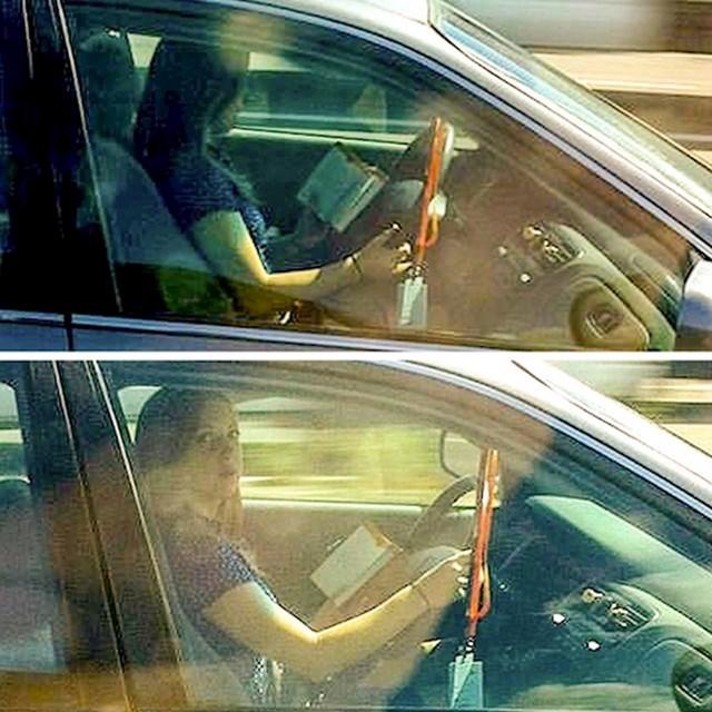 1. Čita knjigu za vrijeme vožnje.