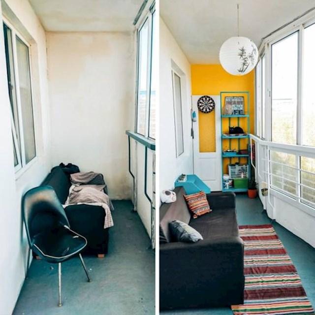 5. Iskoristila je svoj godišnji odmor za renovaciju balkona i pretvorila ga u pravu malu oazu