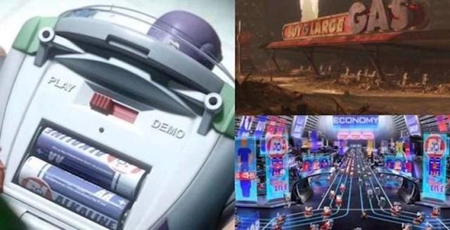 """2. U trećem dijelu Priče o igračkama, Pixar nastavlja svoju veliku tradiciju ukrštavanja referenci. Možemo primijetiti da baterije koje su u Buzzu proizvodi tvrtka  """"BnL"""", odnosno korporacija Buy N Large, koja u filmu WALL-E zapravo upravlja čovječanstvom."""