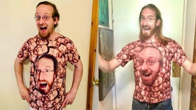 """4. """"Pronašao sam svoga dvojnika na majici. Morao sam saznati tko je i poslati mu majicu sa svojim likom!"""""""