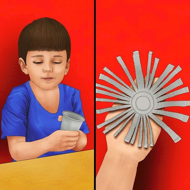 3. Neobjašnjiv poriv za pravljenjem umjetničkih djela od plastičnih čaša s rođendana