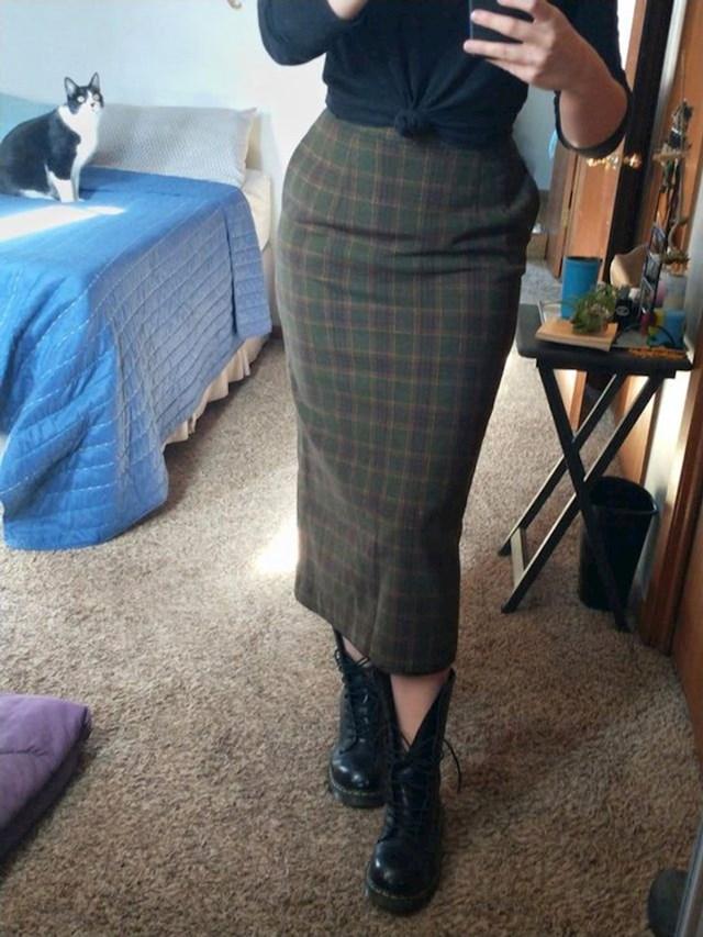 6. Kupila je ovu originalnu suknju za ispod 2 dolara!