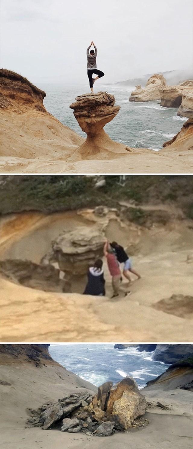 #2 Turisti su uništili popularnu stijenu u Oregonu