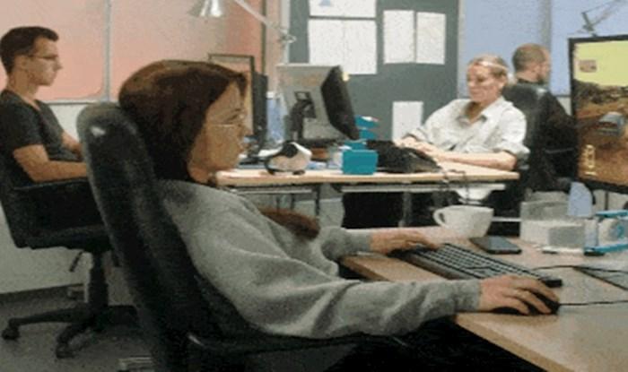 Ako ova radnica nešto radi savršeno, onda je to zavaravanje šefa