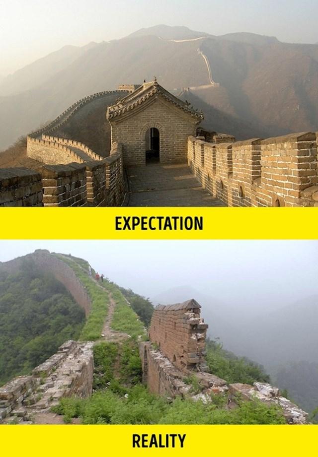 6. Većina Kineskog zida ne izgleda poput fotografija iz turističkih vodiča.
