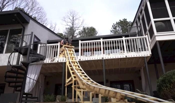 VIDEO 19-godišnji avanturist sam je izgradio roller coaster u dvorištu