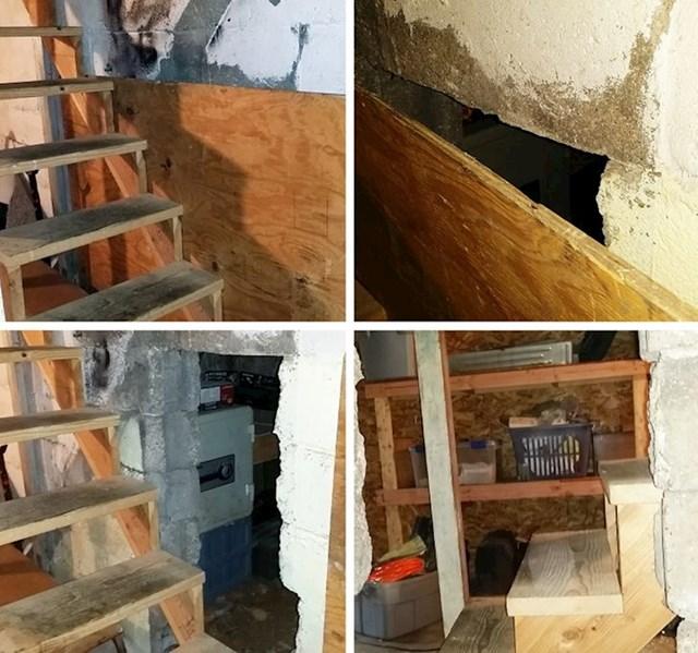 1. Preuređivali smo stubište i pronašli tajnu prostoriju.