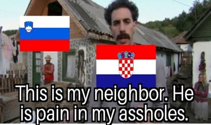 Morate vidjeti urnebesnu foru koja bez dlake na jeziku objašnjava kako Hrvati gledaju na Slovence