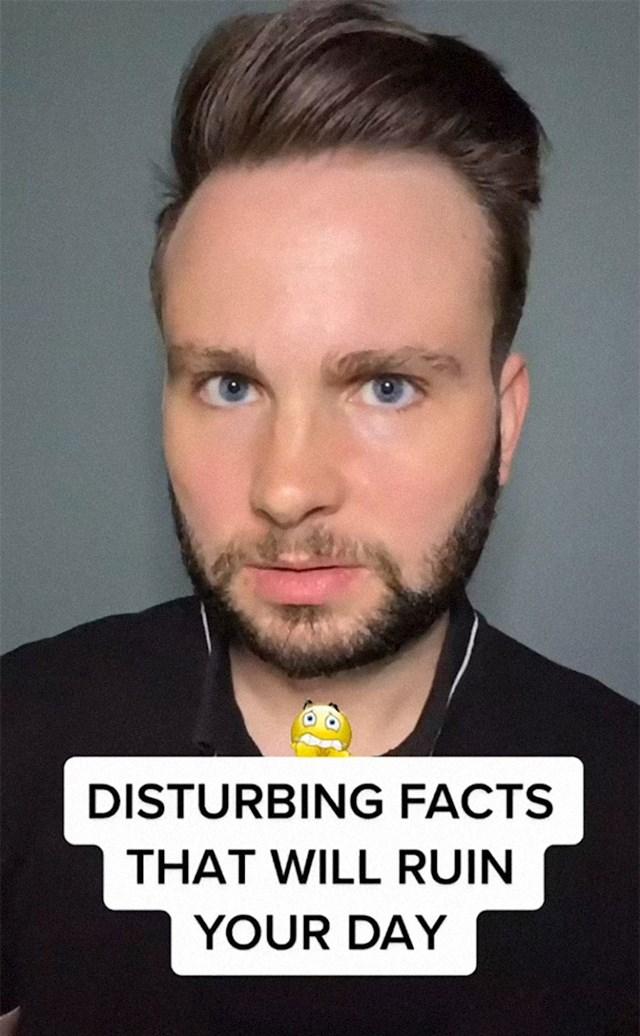 To je lik koji iskopava sve ove čudne informacije. Ime mu je Adorian Deck, a na TikToku poznat je kao The Facts Guy.
