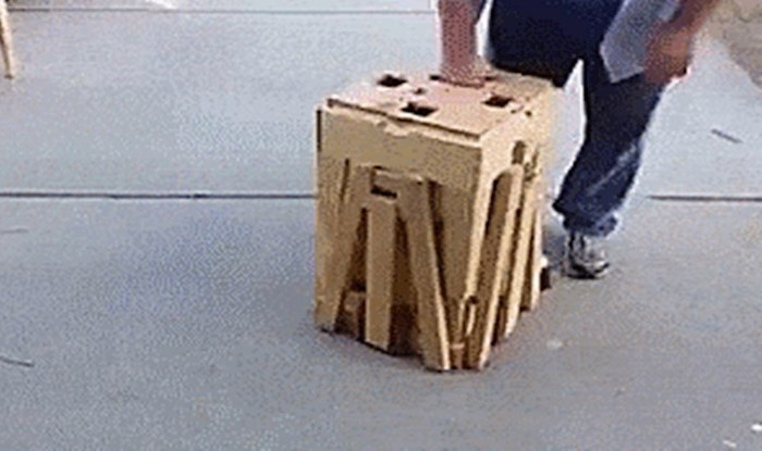Stolar je napravio genijalan prijenosni stol sa stolicama koji ćete odmah poželjeti
