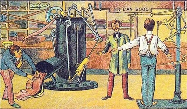 Ovaj stroj radi odjeću po mjeri kupca. Sudeći po svim veličinama i oblicima ljudi, ovo je super zamisao.