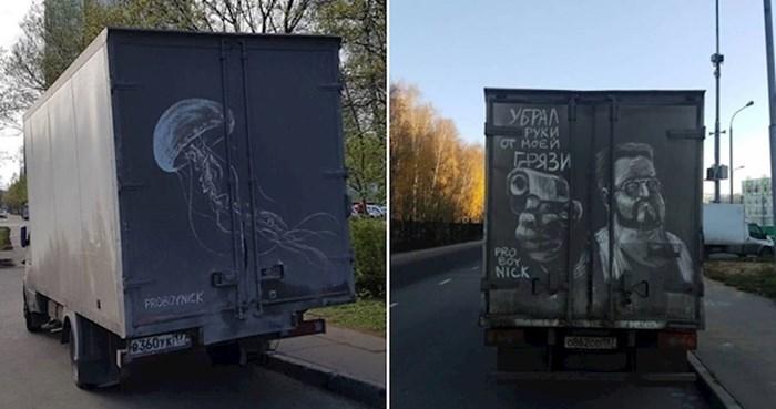 Kreativni Rus pretvara prljave kamione u pokretna umjetnička djela, rezultati su zakon
