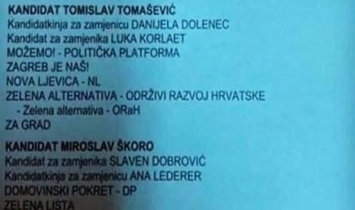 Netko iz Zagreba je na birački listić napisao Hajduk, a tip je totalno razvalio komentarom