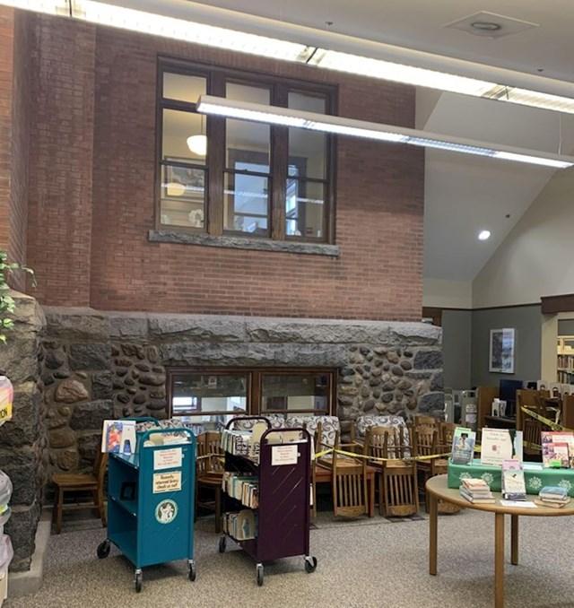 2. Nova knjižnica s pogledom na staru knjižnicu