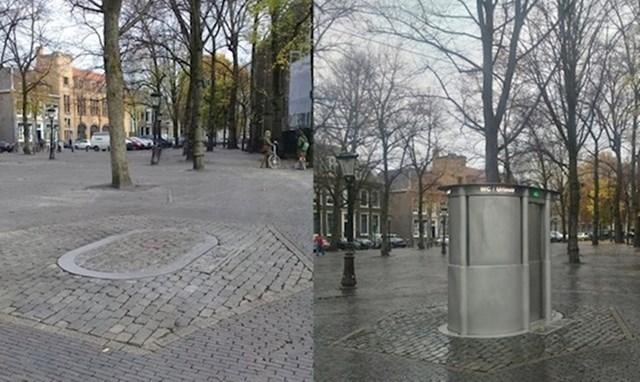 """10. Javni WC u Nizozemskoj """"posprema"""" se u zemlju."""