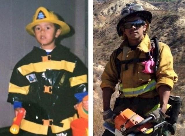 Oduvijek je htio biti vatrogasac.