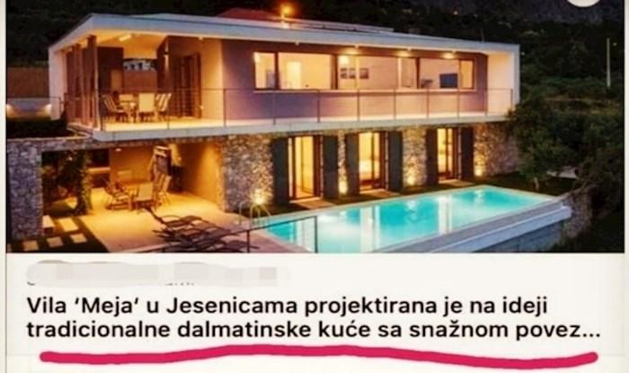 Luksuzna vila u Dalmaciji svima je upala u oči, a duhovitog Antu je podsjetila na pokojnu babu