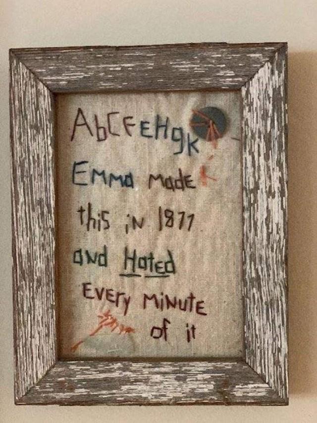 """2. """"Emma je radila ovo 1811. i nije joj se ni malo svidjelo."""""""