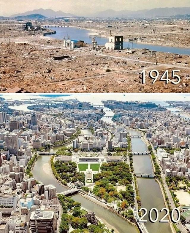 1. Hirošima nakon nuklearne eksplozije i danas
