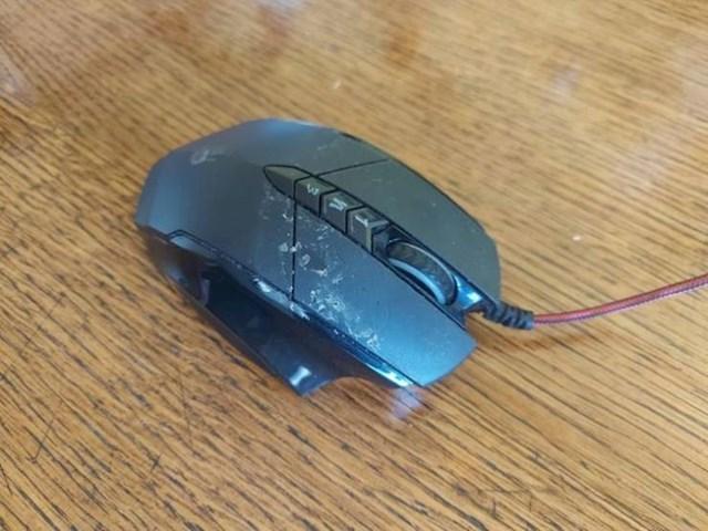 """4. """"Moja mama posudila je mojeg kompjuterskog miša jer nije mogla naći svojeg. Evo kako ga je vratila..."""""""