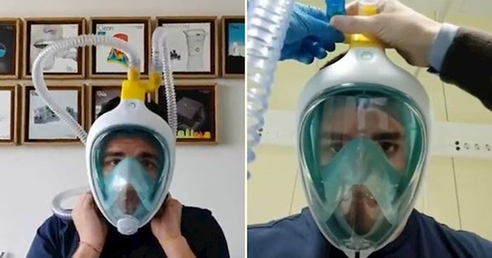 VIDEO Talijanski inženjeri pomoću 3D printera pretvaraju maske za ronjenje u respiratore
