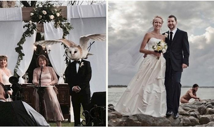 Urnebesne fotke s vjenčanja koje je netko pokvario upadom u kadar