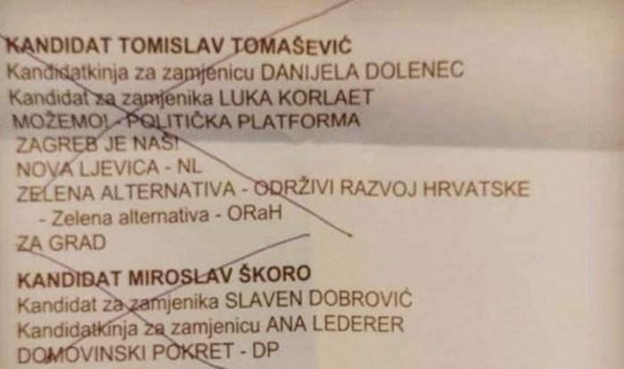 Netko je podijelio fotku svojeg glasačkog listića, morate vidjeti što je majstor dopisao