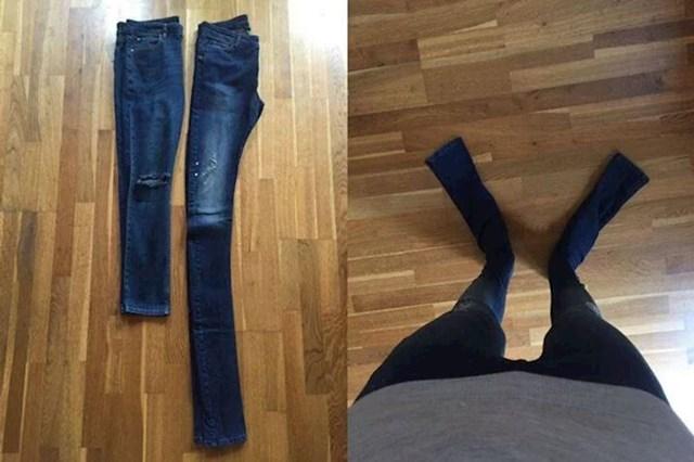"""6. """"Naručila sam traperice koje su očito rađene po mjeri divova."""""""