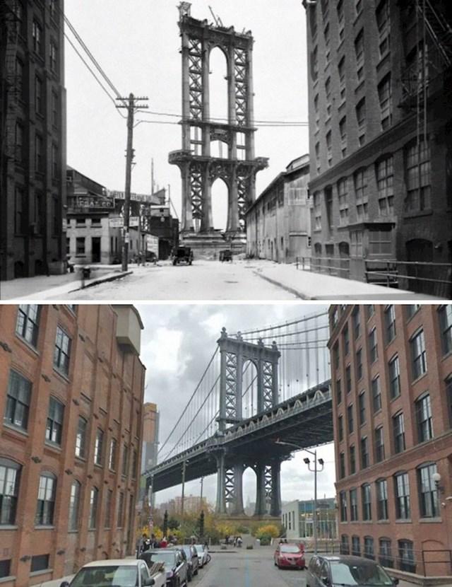 14. Nedovršeni most Manhattan, 1908. i danas