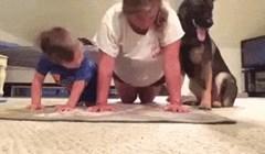 Ovako to izgleda kad cijela obitelji odluči zajedno vježbati