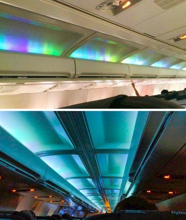 18. Na nekim islanskim letovima svjetla unutar prostora za putnike podsjećaju na polarnu svjetlost.