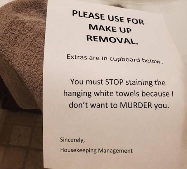 3. Poruka koju mi je muž ostavio u kupaonici.