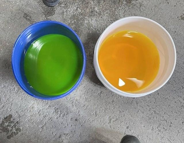 7. Ovo se dogodi kad stavite istu nijansu tekuće boje u posude različitih boja