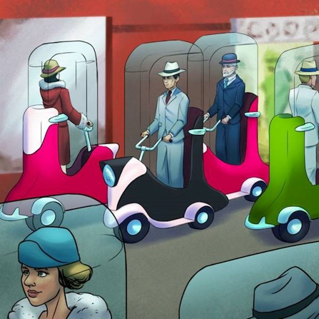 19. Kako su zamišljali gradska vozila...zapravo, nisu toliko različiti od današnjih električnih romobila!
