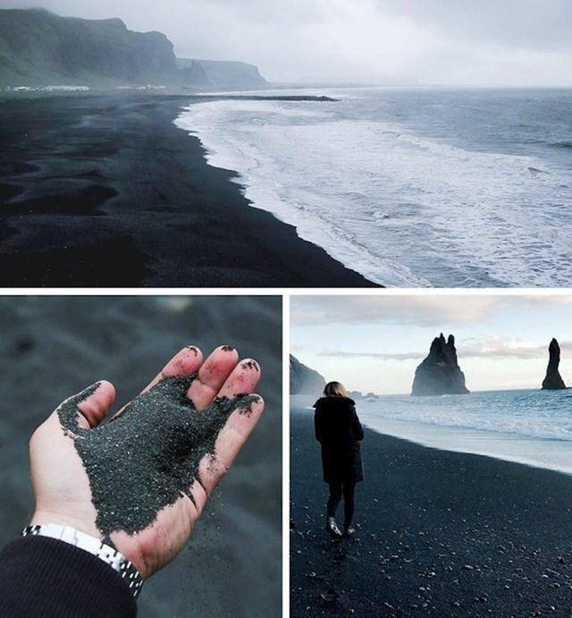 11. Crni pijesak na plaži