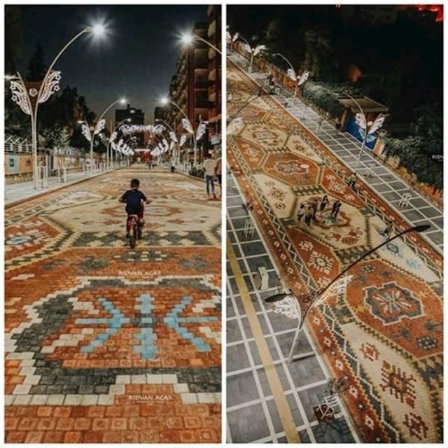 1. Ulica s uzorkom perzijskog tepiha u Turskoj