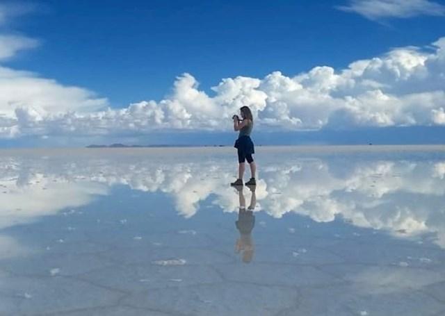 Nevjerojatno slano jezero u Boliviji.