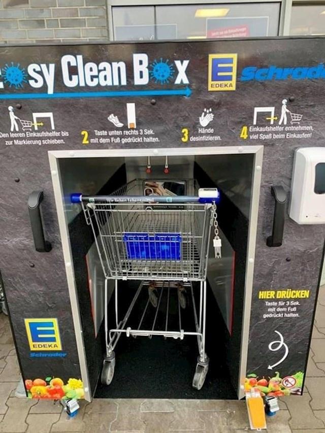 5. Postoji stanica za čišćenje kolica za kupovinu.