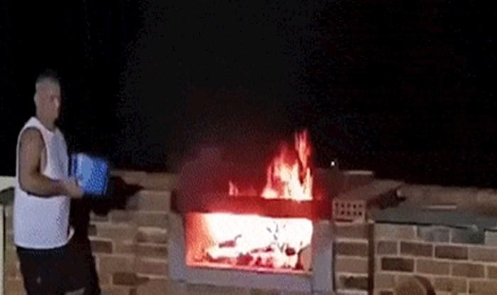 Ovako eksplozivnu potpalu roštilja nemate prilike često vidjeti