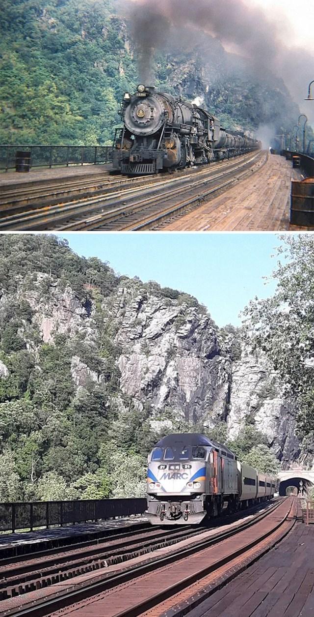 16. Vlak na istoj lokaciji, 1947. i danas