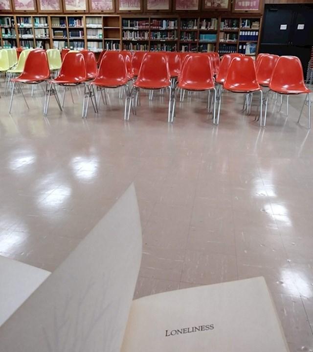 """4. """"Nitko nije došao na moj seminar o usamljenosti."""""""
