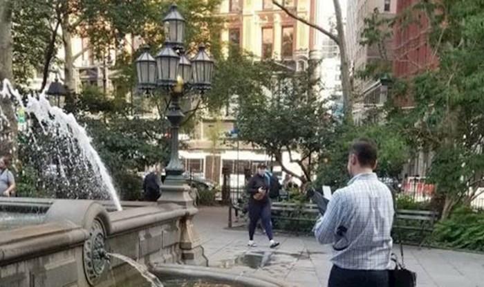 Ljude koji su se našli u blizini ove fontane iznenadio je nevjerojatan prizor