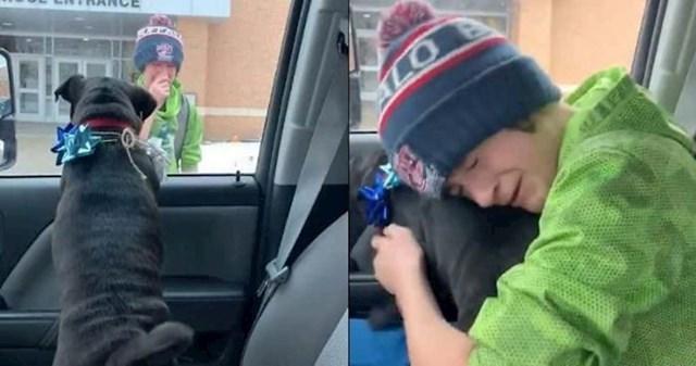 32. Dječak se ponovno ujedinio sa svojim psom koji je bio izgubljen.