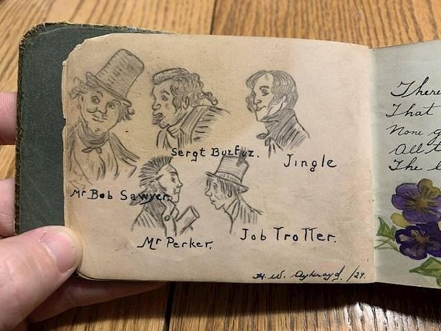 """5. """"Bilježnica moje prabake iz 1924., ovo su crteži njezinih profesora"""""""