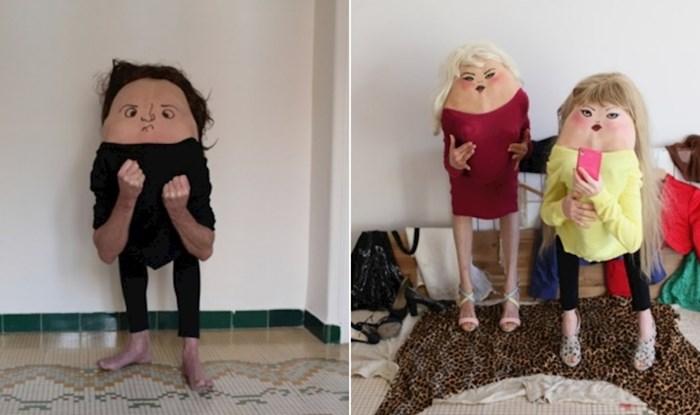 Fotografkinja crta čudna lica modelima na leđa i tako stvara jeziva stvorenja