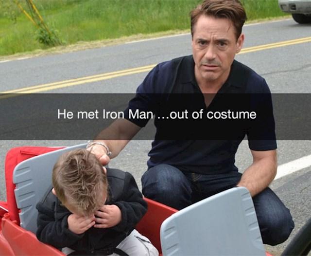 18. Upoznao je Iron Mana...bez kostima.