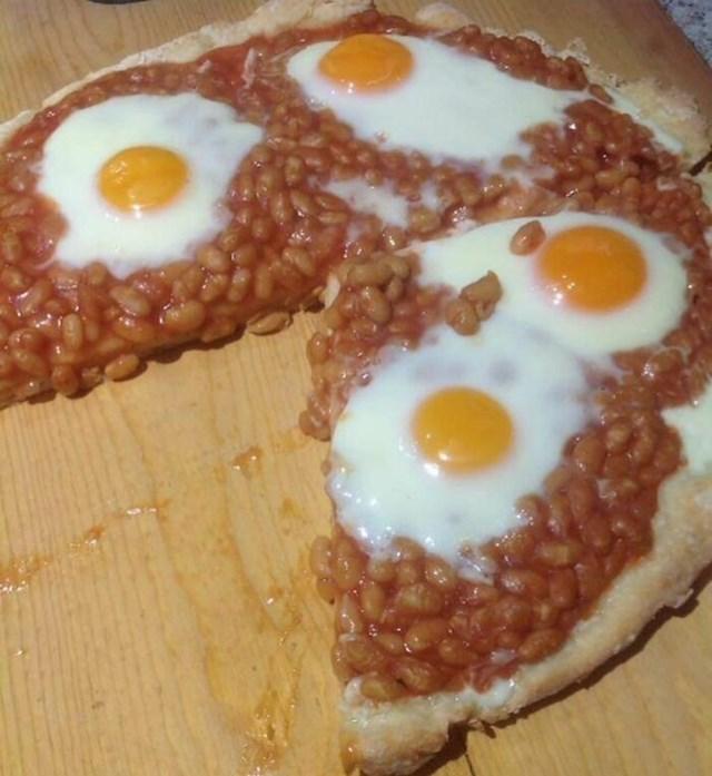 2. Pizza s grahom i jajima