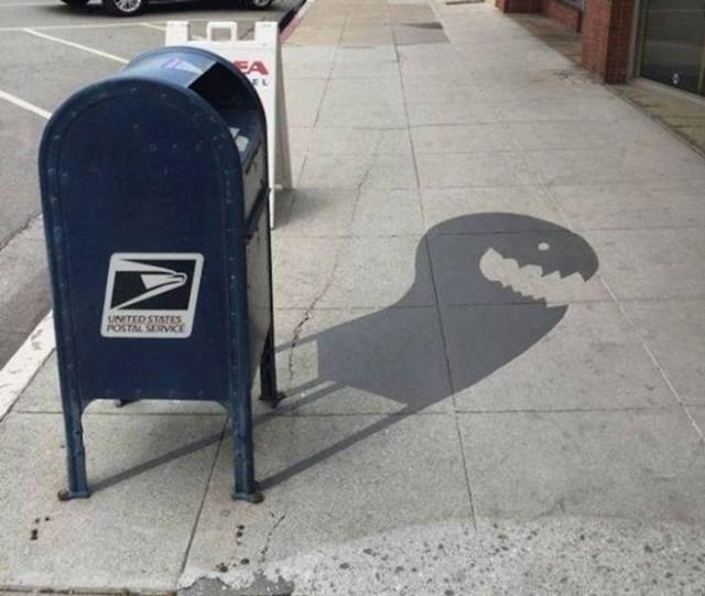 6. Ovo nije sjena, već djelo njemačkog uličnog umjetnika