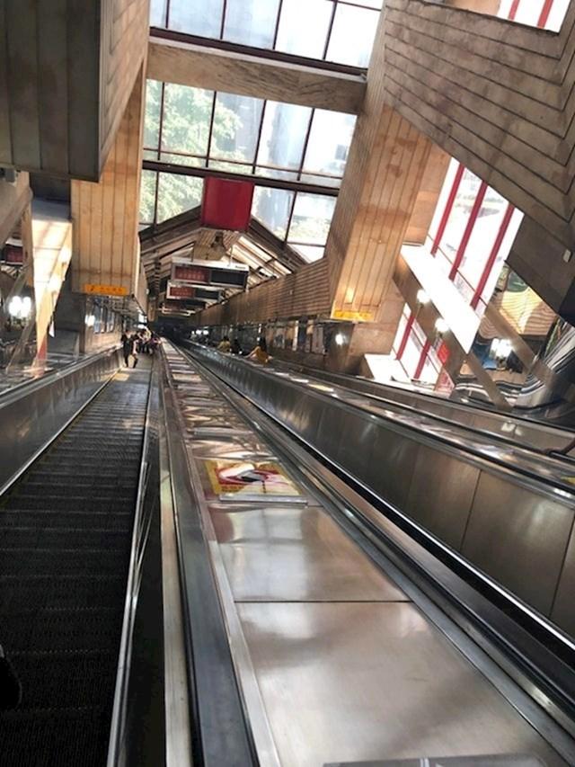10. Neke stanice podzemne željeznice su vrlo duboke.