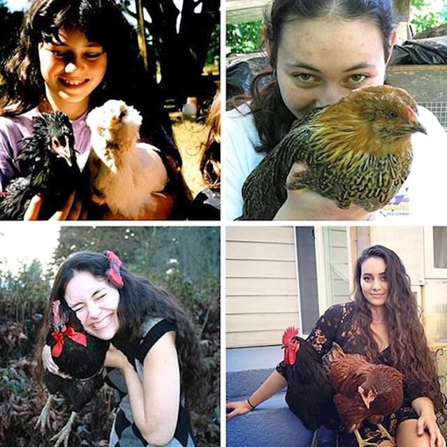 """""""U školi su me zvali - čudakinja koja voli kokoši. Ništa se nije promijenilo."""""""